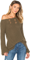 Pam & Gela Shredded Wavy Sweep Sweater