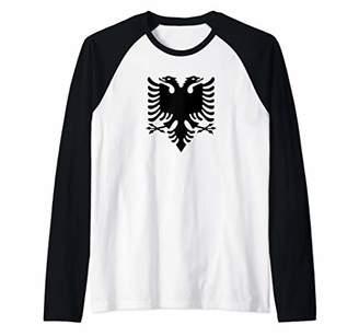 albanian eagle shirt kosovo albania symbol uqk Raglan Baseball Tee