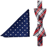 Alara Silk Coolidge Bow Tie & Pocket Square Set