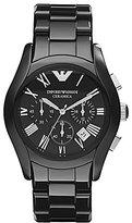 Emporio Armani Black Ceramic 3 Hand Chronograph Watch