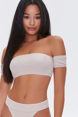 Forever 21 Ribbed Off-the-Shoulder Bikini Top