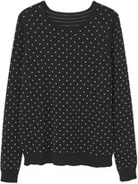 MANGO Embossed Polka-Dot Sweater