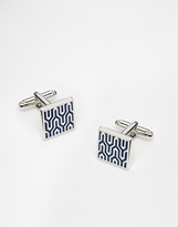 Simon Carter Mosaic Cufflinks - Silver