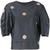 Emporio Armani polka dot blouse