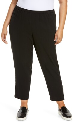 Eileen Fisher Tapered Pants with Side Slits