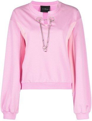 John Richmond Chain-Embellished Sweatshirt