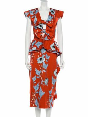 Johanna Ortiz Floral Print Long Dress w/ Tags Blue