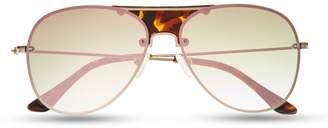 Tortoise Pattern-bridge Aviator Sunglasses