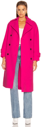 Harris Wharf London Oversized Trench Coat in Pink Neon | FWRD