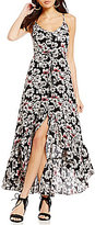 Betsey Johnson Floral Hi Low Maxi Dress