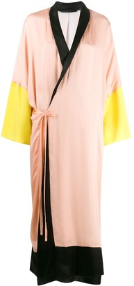 Haider Ackermann Colour Block Robe Wrap Dress