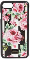 Dolce & Gabbana Rose Printed Leather Iphone 7 Cover
