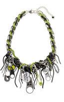 Harajuku Lovers 'Twisted Zipper' Charm Necklace