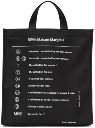 MM6 MAISON MARGIELA Black Garment Print Tote