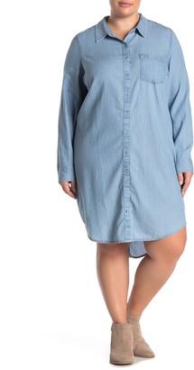 Susina Chambray Button-Down Shirt Dress (Plus Size)