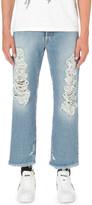Palm Angels Regular-fit cropped wide-leg jeans
