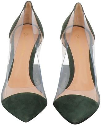 Gianvito Rossi Plexi Green Plastic Heels