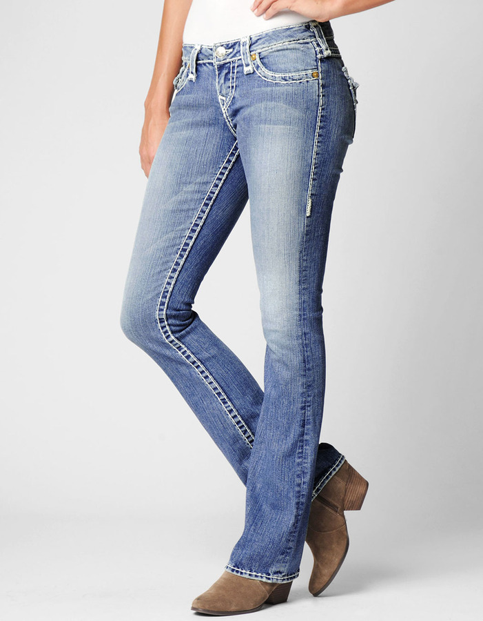 True Religion Womens Becky Natural Super T Jean