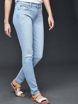 AUTHENTIC 1969 embroidered true skinny jeans