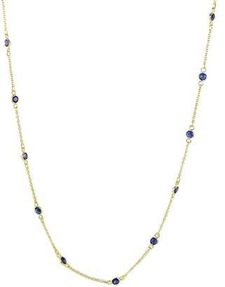 Savvy Cie 18K Yellow Gold Vermeil Sapphire Station Necklace
