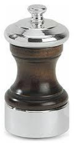 Peugeot Palace Silver Plated Polished Wood 10 Cm Pepper Mill - Silver/Wood