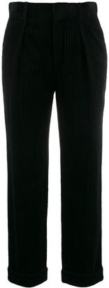 Saint Laurent High Waisted Corduroy Trousers
