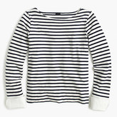 J.Crew Striped boatneck T-shirt with built-in cuffs