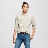 Mossimo Men's Long Sleeve Washed Denim Shirt Khaki S