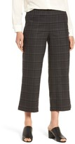 Eileen Fisher Women's Wide Leg Plaid Crop Pants