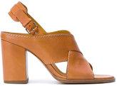 Veronique Branquinho crossed strap sandals - women - Calf Leather/Goat Skin/Bos Taurus - 38