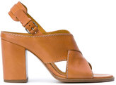 Veronique Branquinho crossed strap sandals