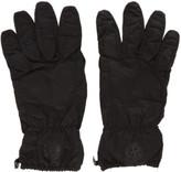 Stone Island Black Nylon Puffy Gloves