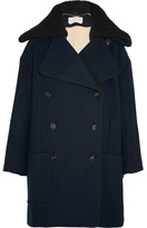 Chloé Double-breasted Wool-blend Coat - Navy