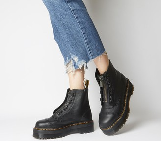 Dr. Martens Sinclair Zip Boot Black Milled Leather