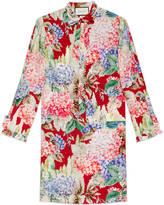 Gucci Hydrangea print silk dress