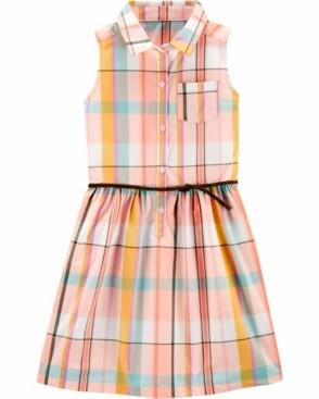 Carter's Big Girls Plaid Shirt Dress