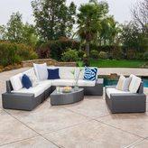 Christopher Knight Home Santa Cruz Outdoor 7-piece Wicker Sofa Set with Cushions