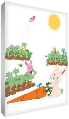 Camilla And Marc Feel Good Art A7 Diamond-Polished Acrylic Token/Decor Block Frame (10.5 x 7.4 x 2 cm, Bunny Rabbit)
