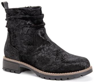 Muk Luks Clarice Floral Embossed Boot