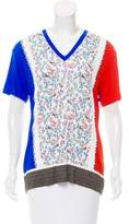 Prabal Gurung Floral Print V-neck Top