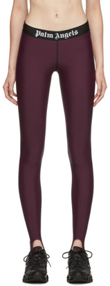 Palm Angels Burgundy Sport Leggings