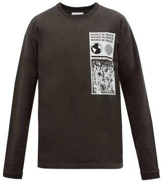 Ambush Visitor Printed Cotton Long-sleeved T-shirt - Mens - Black