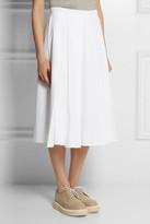 J.W.Anderson Pleated cotton-jacquard midi skirt