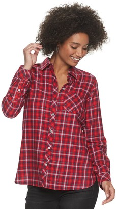 Sonoma Goods For Life Petite Plaid Flannel Shirt