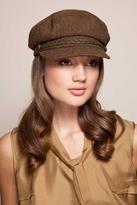 Eugenia Kim Marina Captain's Cap in Brown/Brass