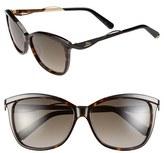 Christian Dior Women's Metaleyes 2 57Mm Retro Sunglasses - Dark Havana