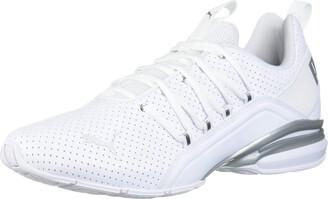 Puma Men's Axelion Perf Cross-Trainer White Silver 12 M US