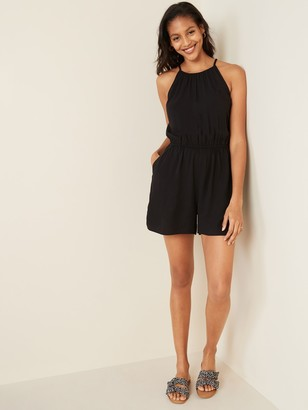 Old Navy Sleeveless Surplice-Back Romper for Women