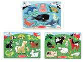 Melissa & Doug Toddler Set Of 3 Peg Puzzles