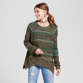Mossimo Women's Pullover Sweater Green Spacedye